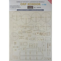 ORP Kondor 1:100 - laser cut