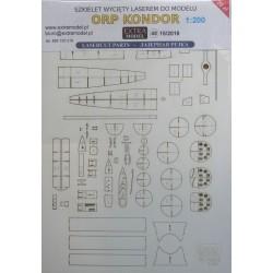 ORP Kondor 1:200 - laser cut